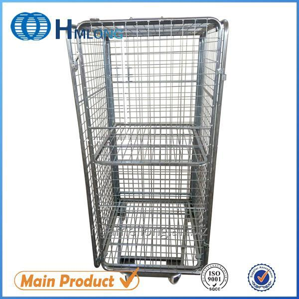 Buy BY-10 Warehouse rigid metal storage roll wire container