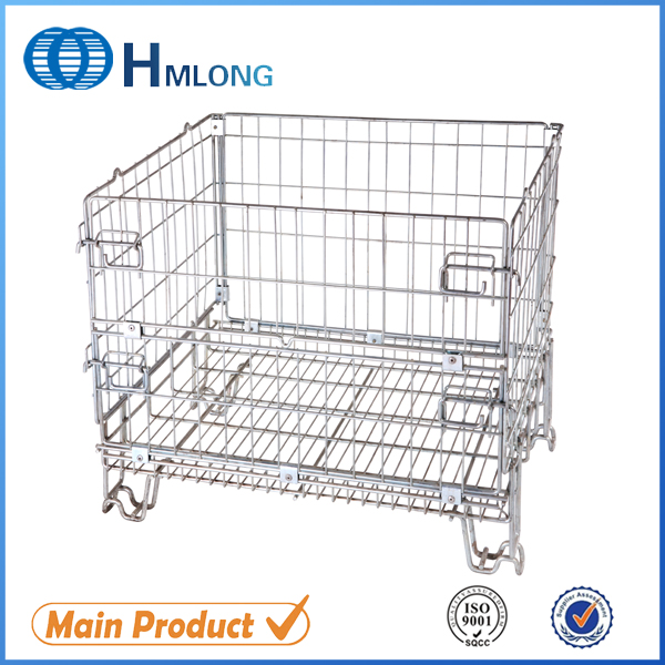 Buy F-19 Foldable galvanized metal security wire mesh storage cage