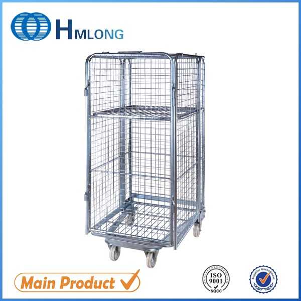 Купити BY-10 Transportation nestable 4 sided wire rolling metal storage cage
