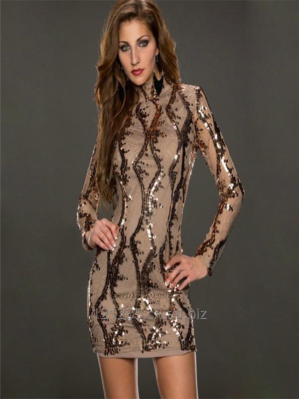 购买 Sexy women brown bandage sequin dress