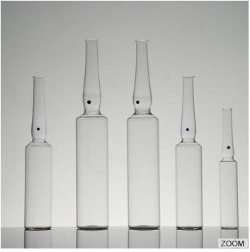 购买 Indian standard, YBB and GMP and ISO standard USP type1 OPC with blue point type B 10ml clear glass ampoule