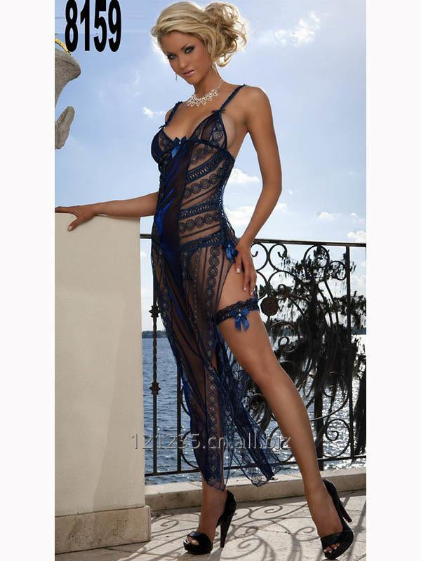 购买 Sexy Black Spaghetti Strap Lingerie Nightwear Dress