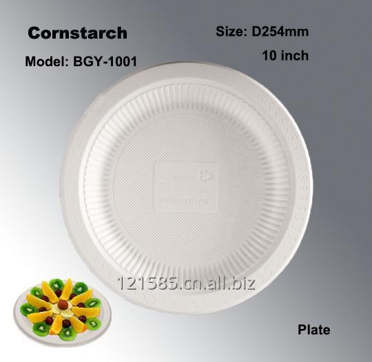购买 大容量可降解玉米淀粉制环保一次性餐盘