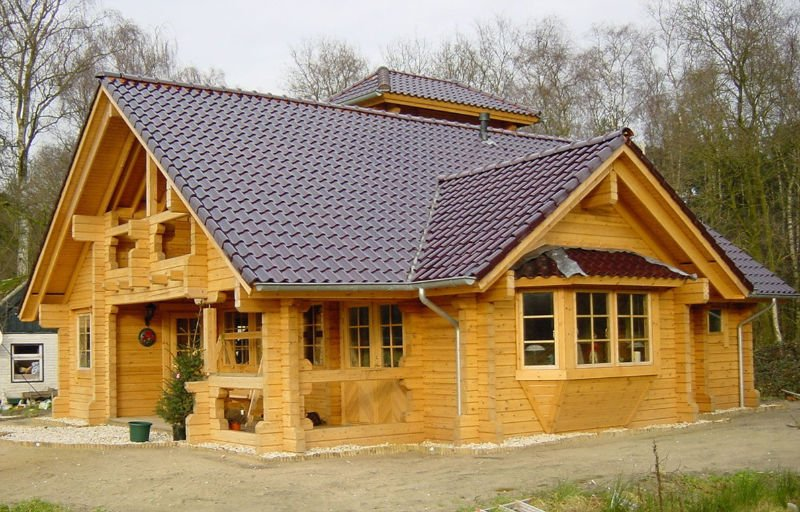 Russian prefabricated wooden house