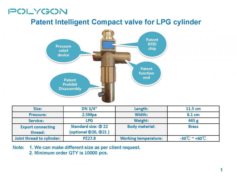 购买 Intelligent valves for Home Gas Cylinder