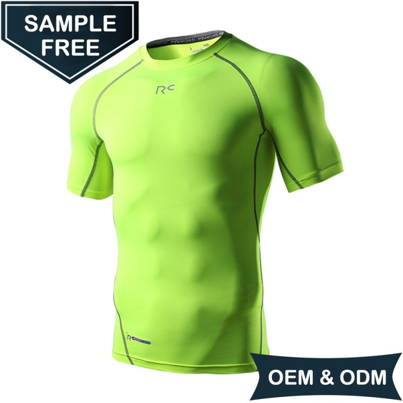 Buy OEM/ODM 2017 High quality custom T shirts Dry fit compression streched mens sports wear for fitness running