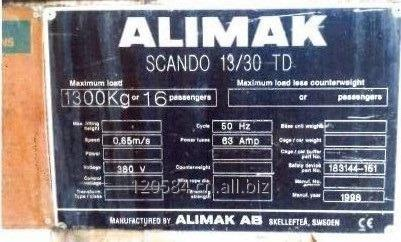 Buy Used Passenger Hoist Alimak Scando I 13/30TD with mast section 100m