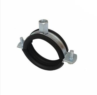 Buy Two screw pipe clamp with rubber lined