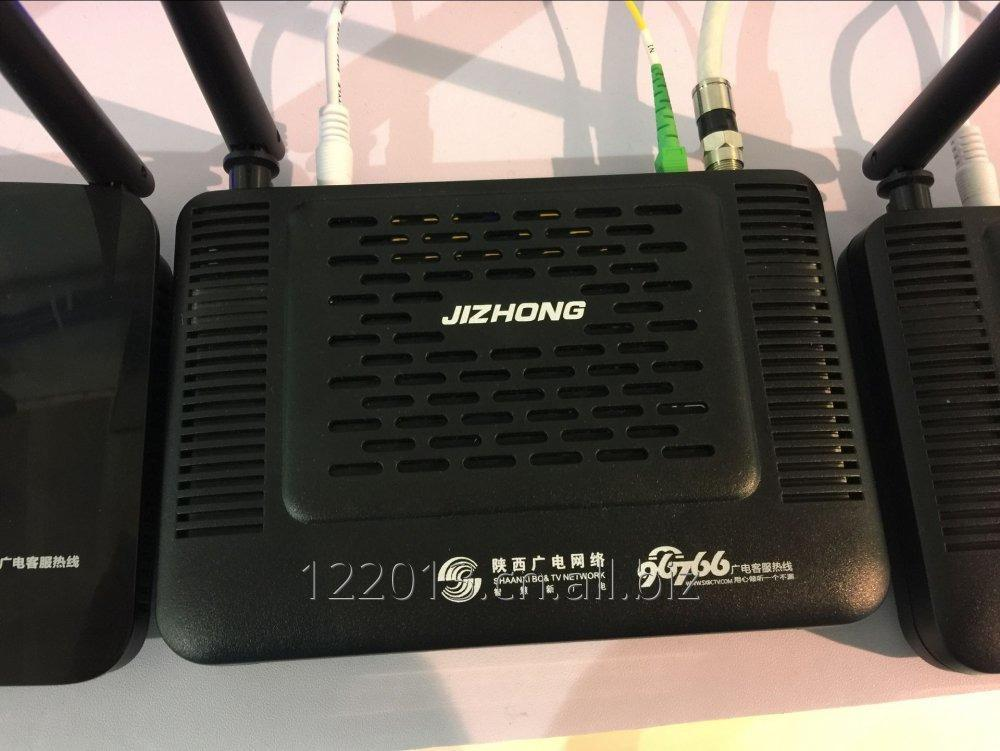 Buy Jizhong GEPON ONU/ONT 1GE+3FE+WIFI+CATV+DWDM single fiber three wavelength