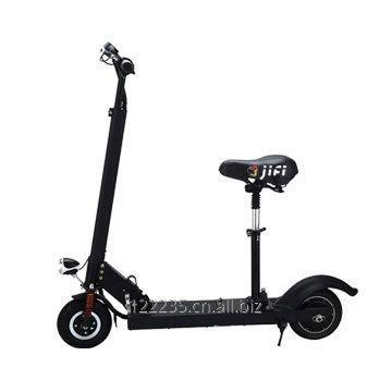 Folding electric kick scooter with seat and LCD display screen