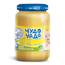"Apple-pear puree without sugar ""Chudo-chado"" 0,170 l"