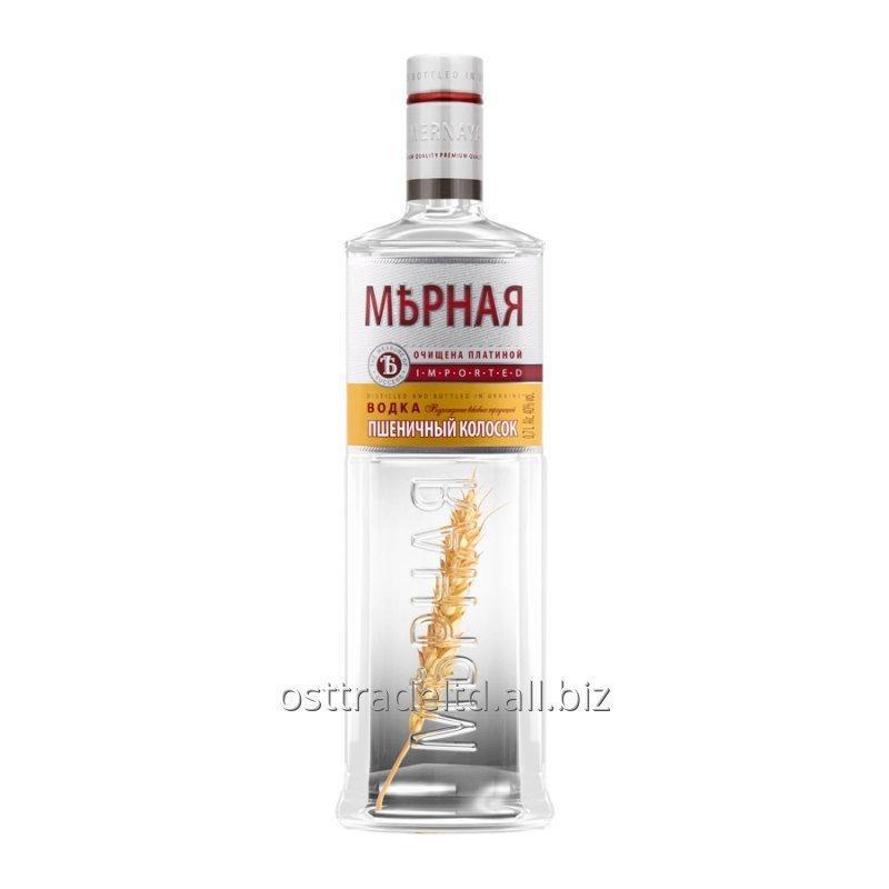 "购买 Vodka ""Mernaya Wheat Vodka"" (0,5 0,7 0,75 1,0 L.) Ukraine."