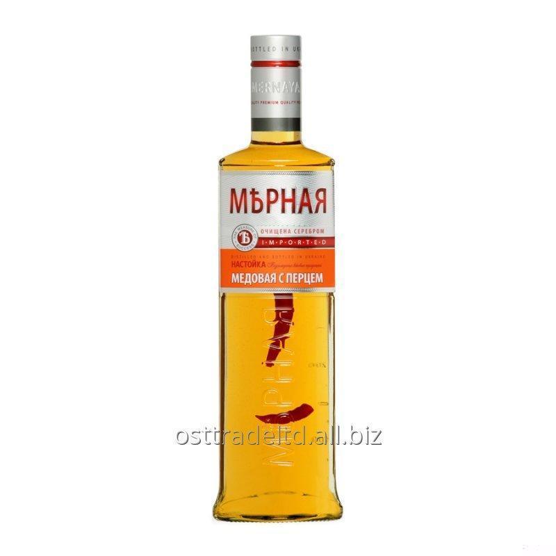"""购买 Vodka """"Mernaya Honey & Pepper Flavored"""" (0,2 0,5 0,7 0,75 L.) Ukraine."""