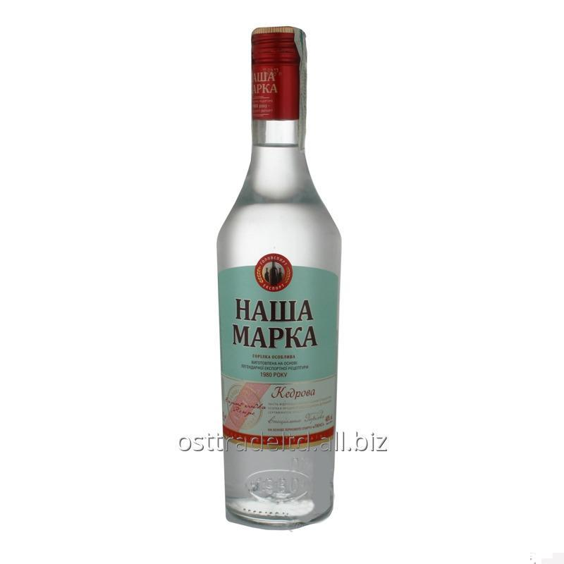 "购买 Vodka ""Nasha Marka Cedar Vodka"" (0,25 0,5 L.) Ukraine."
