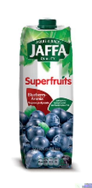 Jaffa 100% ukrainian juice Blueberry-chokeberry nectar 1L.