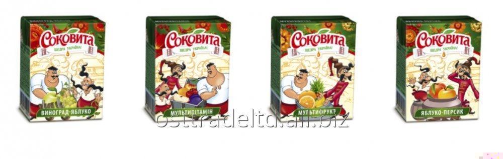"""Juice """"Sokovita"""" 0,2L. Ukraine. TBA Base"""