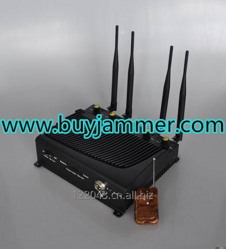 Buy Adjustable 4 Band Desktop Mobile Phone Jammer with Remote Control