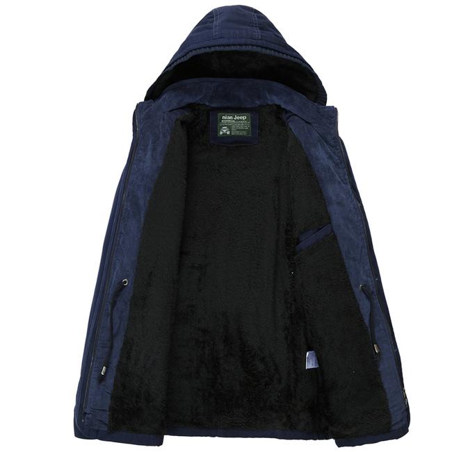 购买 NianJeep Brand Men's Coats Cotton Jackets Winter and Spring High Quality Clothing Warm Lining Outerwear