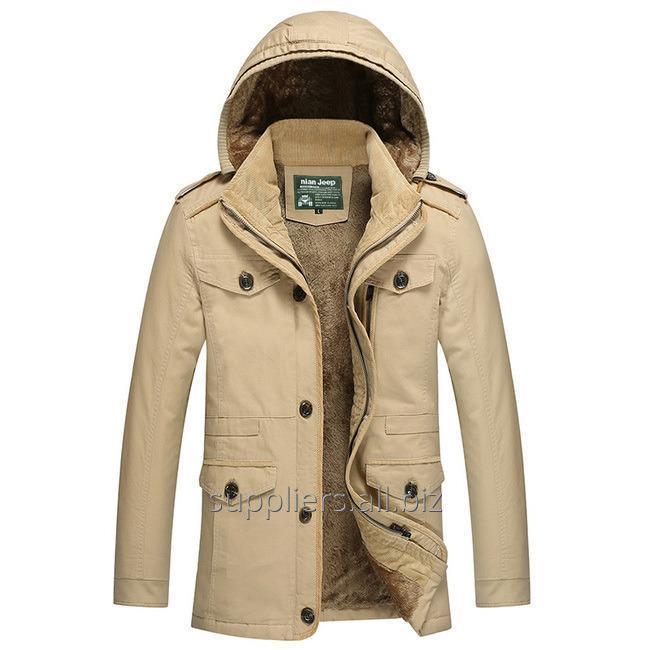 购买 NianJeep Brand Men's Jackets Warm Lining Coats 100% Cotton Clothing Winter and Spring High Quality Outerwear