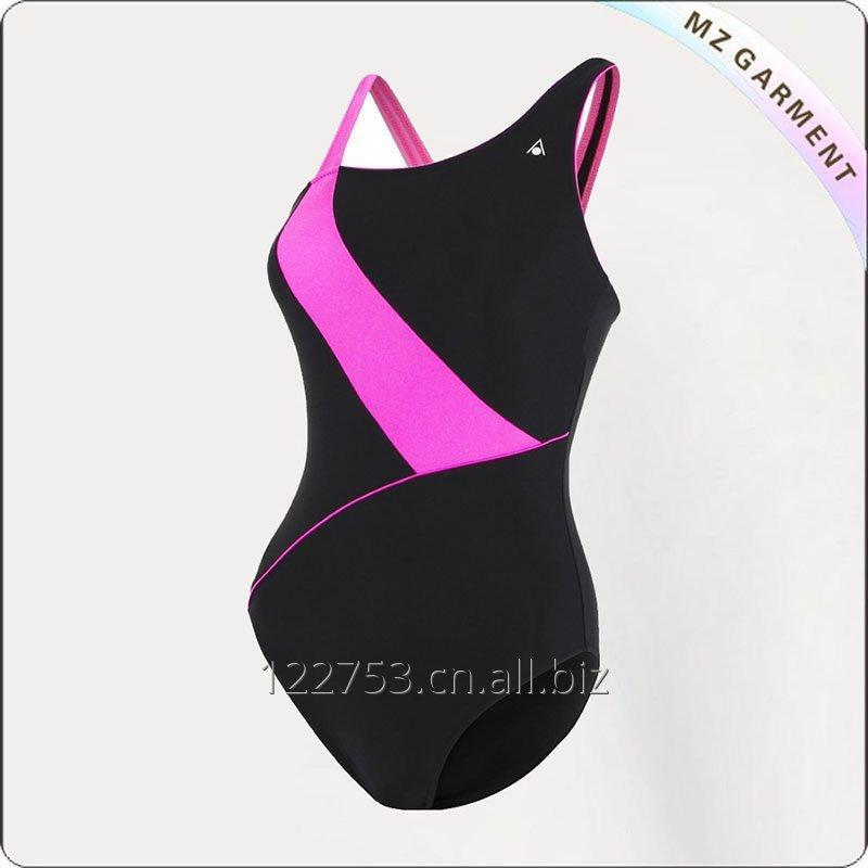 Women Wide Strap Competitive Swimsuit