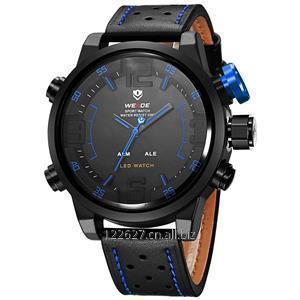 Buy WEIDE WH5210B-4C 3atm Waterproof black watches for men
