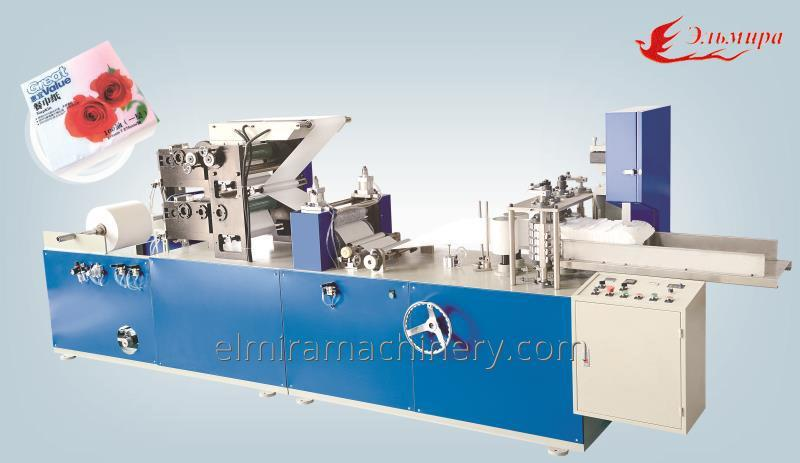 Machines for the production of colored paper napkins