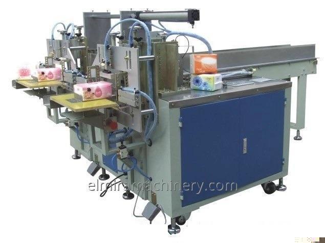 Semi-automatic napkin packaging machine