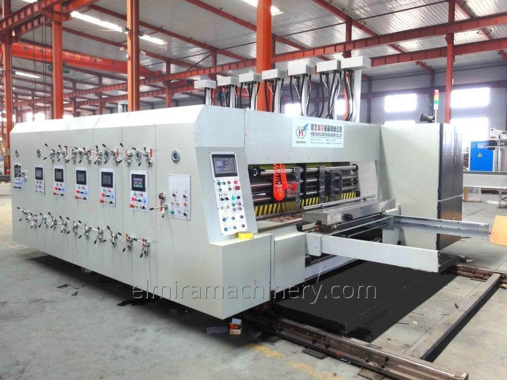 Automatic flexo printer slotter (die cutter) folder gluer machine HYA - 420 - 2600