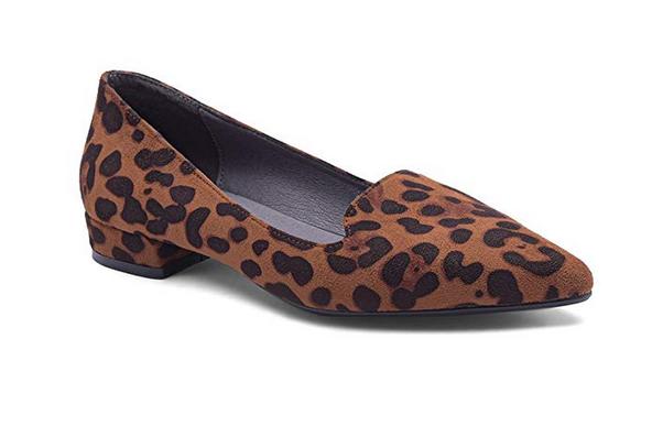 Купить Комфортная обувь стиль леопарда Направленные носки для женщин