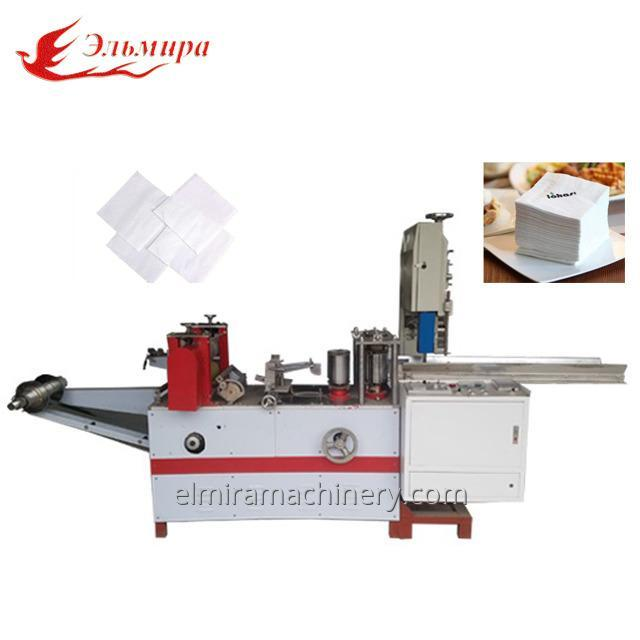 Equipment for the production of paper napkins