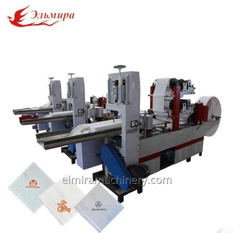 Машина для складывания бумажных салфеток автоматическая