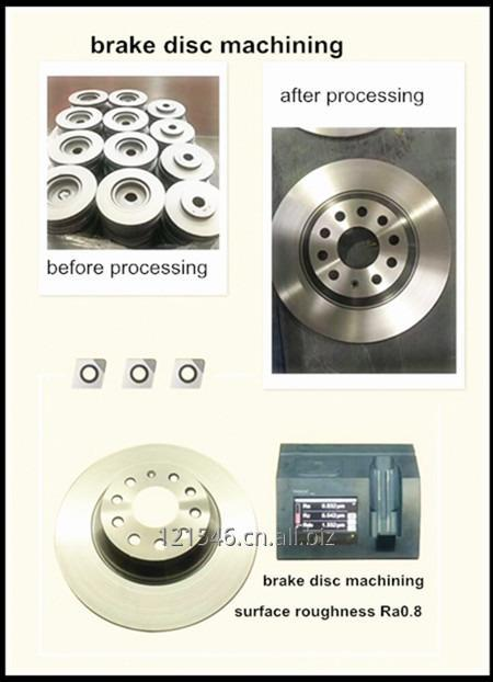 Cbn inserts for brake disc machinin
