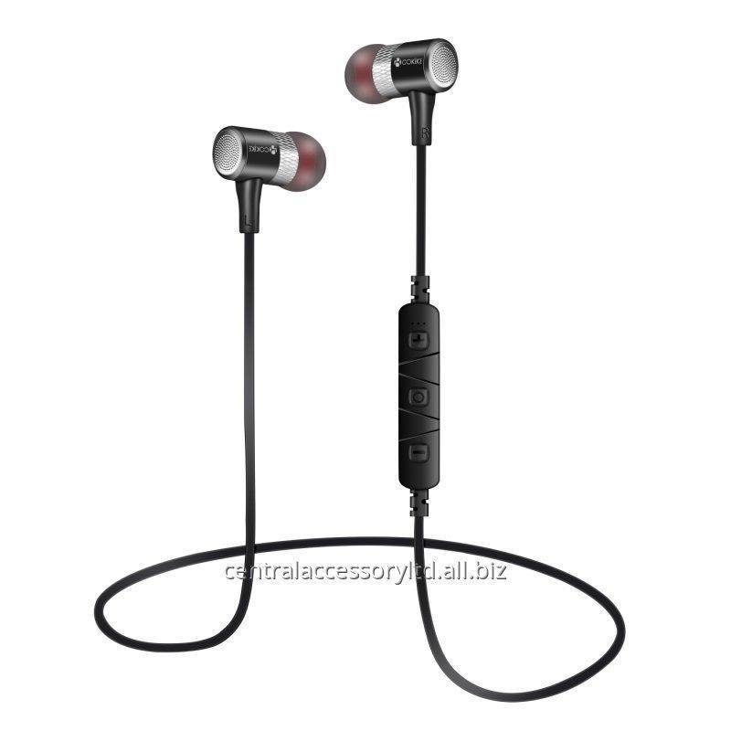 Купить BL-K340 Bluetooth наушники Короткой Проводной гарнитура Производители металл Магнитная поглощение низкой частоты Спорт Малой In-Ear стерео гарнитуры для мобильного телефона и таблеток