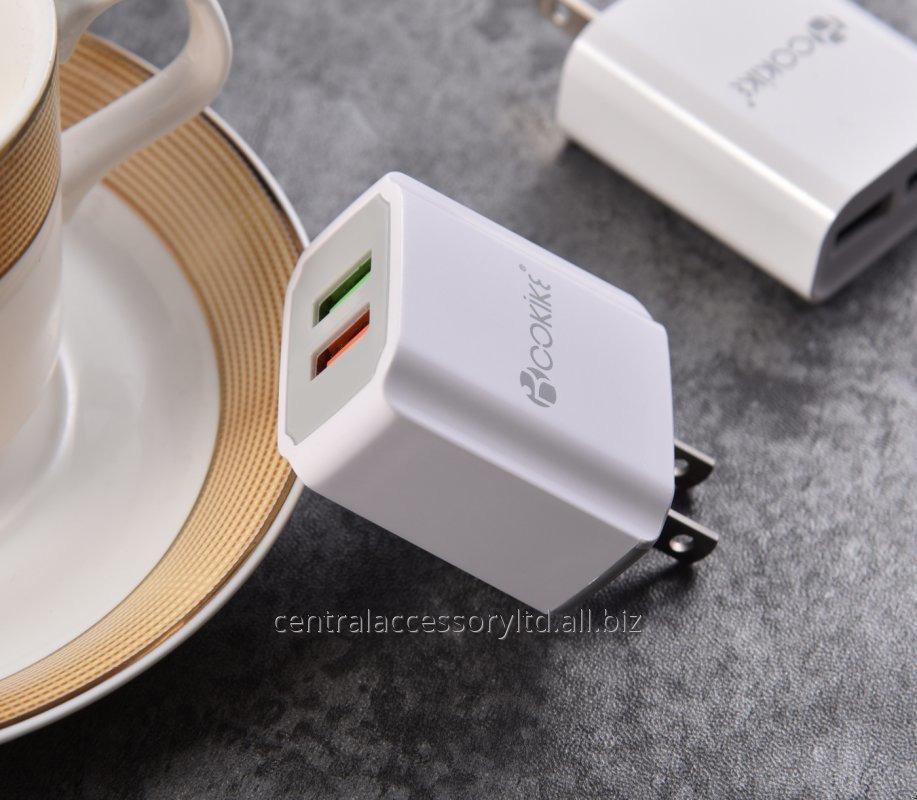 Купить CM-3 Смарт Dual USB Зарядное устройство Главная зарядное устройство Поставщики Подключите адаптер питания США С зарядный кабель для мобильного телефона и таблетки