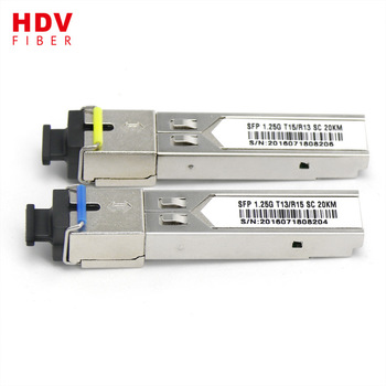 Buy 1.25G 20km 1000base -bx bi-directional sfp Module transceiver