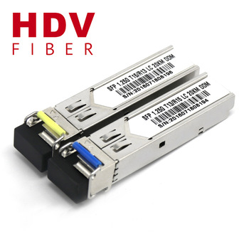Buy HDV WDM SFP, 1.25G BIDI SFP with DDM Compatible Huawei & Cisco