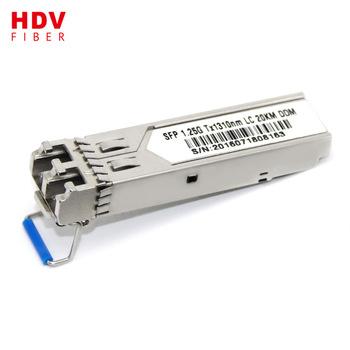 Buy SC connector 1.25G 20KM 1310 sfp module compatible