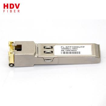 Buy 10/100/1000M rj45 copper utp cable cisco compatible sfp-t
