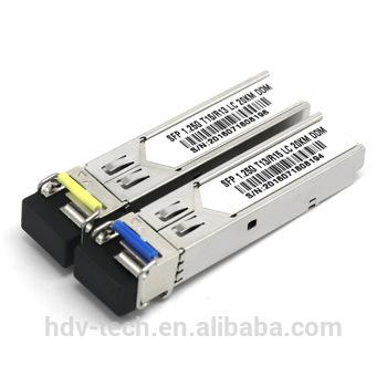 Buy 1000Base WDM SFP 1310/1550nm 20km 1.25G BiDi SFP DDM