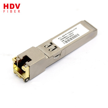 Buy 10/100/1000 base 100 meter sfp copper rj45 module from China factory