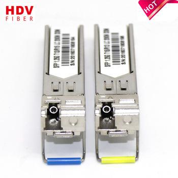 Buy Huawei compatible 1000base-tx sfp transceiver 1310/1550nm 20km bidi sfp fiber optical transceiver