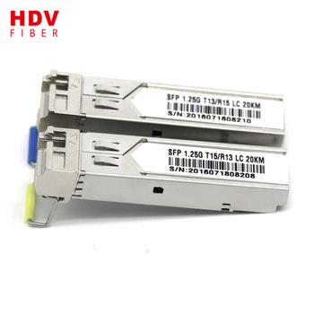 Buy SFP WDM T1550/R1310 20KM fiber optical transceiver for gigabit ethernet