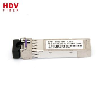 Buy BIDI WDM Tx1270 Rx1330nm 10KM 20KM 10G single/dual fiber SFP