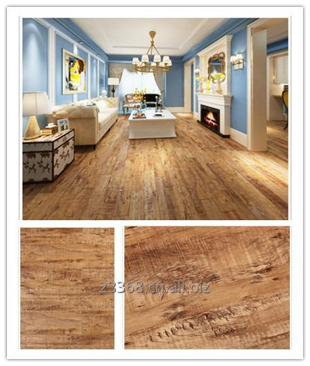Buy Vinyl flooring wood effect texture self adhesive renewable material environment friendly
