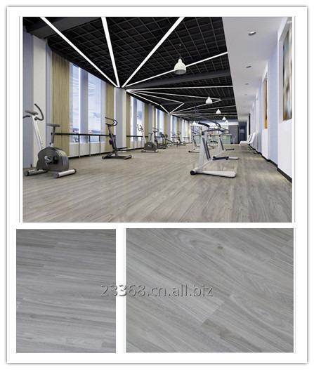Buy Vinyl floor coverings click system anti-pollution solution for gymnasium bedroom kitchen livingroom PVC flooring