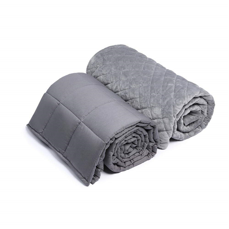 Buy Customize pure natural cotton weighted blanket great for stree and anxiety gravity blanket