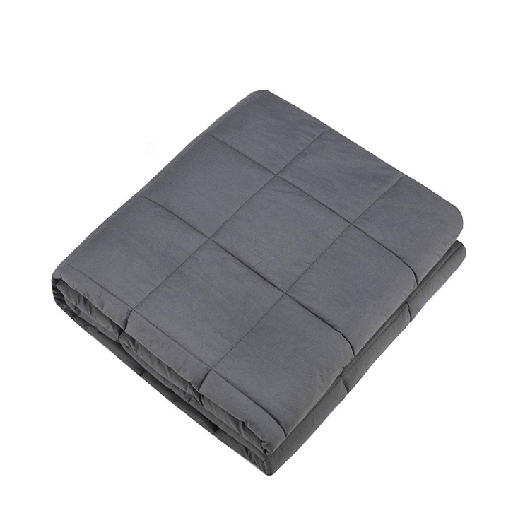 "Buy Weighted Blanket Factory Amazon Hot sales 100% Cotton Sensory Blanket 20lbs at 60""x80"" for Adults Grey Color"