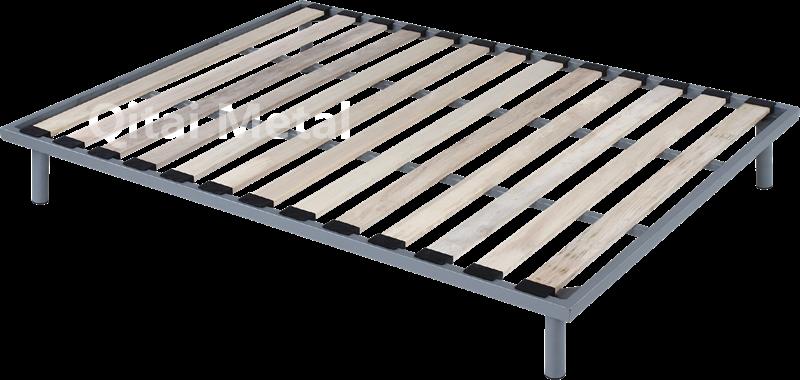 Buy Solid wood King platform bed frame