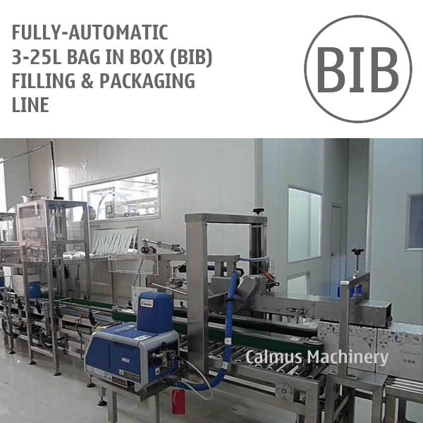 Buy Fully-automatic 3-25L Bag in Box Filling and Packaging Line