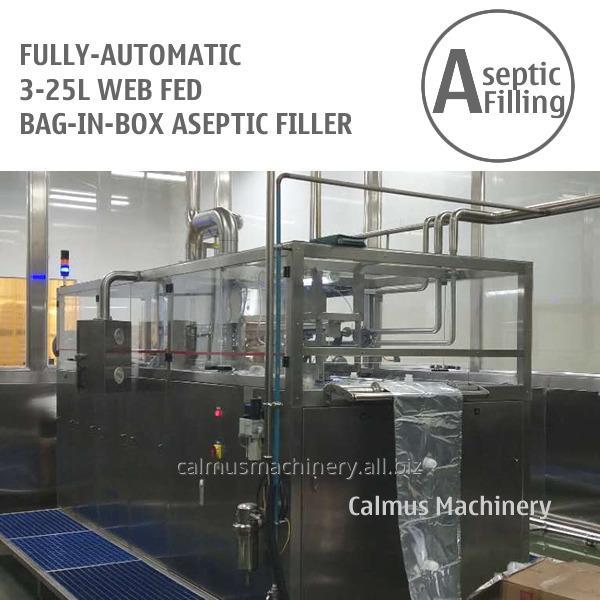 Fully-automatic 3-25L WEB Bag Filling Machine Juice Milk Bag in Box Aseptic Filler